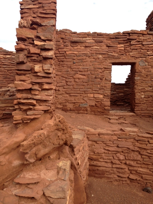 An ancient Pueblo ruin at Wupatki National Monument.
